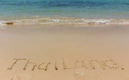 Aufschrift auf dem Strand lizenzfreie stockfotografie