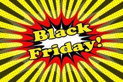 Aufschrift ` Black Friday-` Lizenzfreie Stockbilder