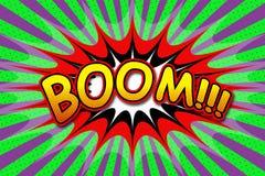 Aufschrift ` Boom ` Stockfotos