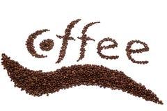 Aufschrift des Kaffees Lizenzfreie Stockfotografie