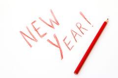 Aufschrift-neues Jahr Stockfotografie