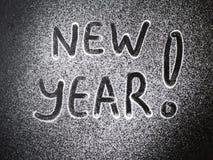 Aufschrift-neues Jahr zum Zucker lizenzfreie stockfotos