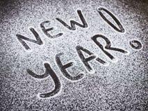 Aufschrift-neues Jahr zum Zucker lizenzfreie stockfotografie