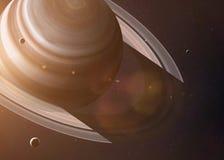 Aufschrift spornte durch den mysteriösesten Planeten von an stockbild