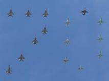 Aufschrift von 70 Flugzeugen Stockfotos