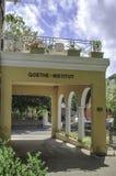 Aufschrift von Goethe-Institut auf einem Gebäudeeingang in Sydney Lizenzfreie Stockfotografie