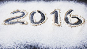 Aufschrift 2016 zum Mehl Stockbild