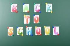 Aufschrift zur?ck zu Schule lizenzfreies stockfoto