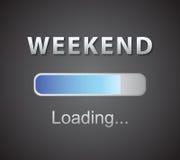 Aufschriftladen Wochenendenkonzept-Illustrationshintergrund Stockfoto