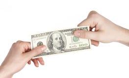 Aufspaltenprofit, Gleichgestelltes gewinnt Konzept Stockfoto