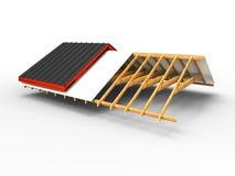 Aufspaltung eines Dachs Stockbild