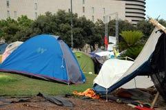 Aufstände in Barcelona im Juni 2011 Lizenzfreies Stockbild