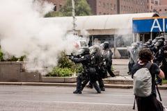 Aufstände nähern sich G20, am 26. Juni 2010 - Toronto, Kanada Stockfotografie