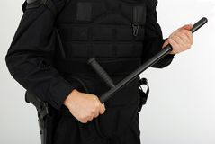 Aufstandpolizei Stockfoto