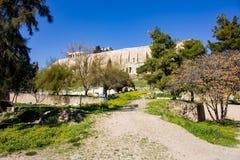 Aufsteigen der Akropolishügel lizenzfreies stockbild