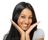 Aufstellung der indischen Frau Stockfotografie
