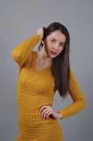 Aufstellung der jungen Dame Stockfotos