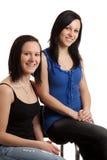 Aufstellung der jungen Frauen Lizenzfreie Stockfotografie