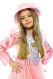 Aufstellung des kleinen Mädchens Lizenzfreies Stockfoto