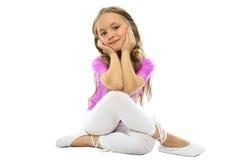 Aufstellung des kleinen Mädchens Lizenzfreie Stockfotografie