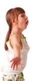 Aufstellung des kleinen Mädchens Stockfotografie