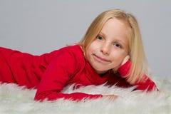Aufstellung des Mädchens Stockfoto
