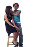 Aufstellung mit 2 nette Mädchen Stockfoto