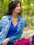 Aufstellung mit Blumen lizenzfreies stockfoto
