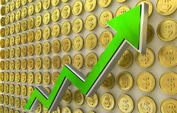 Aufstieg des Dollars Lizenzfreies Stockbild
