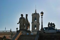 Aufstieg Roms Capitoline, Italien Stockfotografie