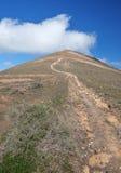 Aufstieg zu Montana de Guardilama, Lanzarote Stockfoto