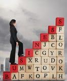 Aufstieg, zum des Erfolgs im Geschäft zu erhöhen Lizenzfreies Stockfoto
