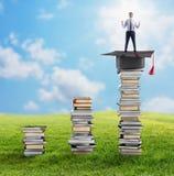 Aufstieg zum Grad und zum Job lizenzfreie stockfotos