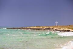 Auftauchender Sturm in Meer, Herbststimmung von Apulien stockfotografie