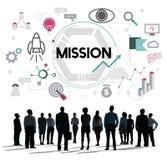 Auftrag-Motivations-Ziel-Ziel-Visions-Konzept Lizenzfreies Stockbild