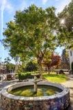 Auftrag San Luis Obispo de Tolosa Courtyard Fountain Kalifornien Lizenzfreie Stockfotos