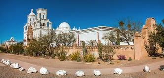 Auftrag San Xavier del Bac Tucson stockbild