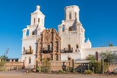 Auftrag San Xavier del Bac Tucson, Arizona stockbilder