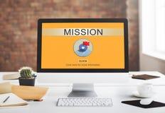 Auftrag-Ziel-Ziel-Motivations-Strategie-Ziel-Konzept Stockfotografie
