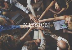 Auftrag-Ziel-Ziel-Motivations-Ziel-Visions-Konzept Lizenzfreies Stockfoto