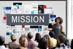 Auftrag-Ziel-Ziel-Motivations-Ziel-Visions-Konzept Lizenzfreie Stockfotos