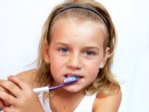 Auftragende Zähne lizenzfreies stockbild