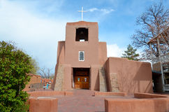 Auftragkirche Santa Fe New-Mexiko Lizenzfreies Stockbild