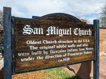Auftragkirche Santa Fe New-Mexiko Stockbild