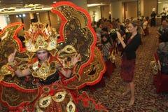 Auftritt-Solo- Batik-Karneval Lizenzfreie Stockbilder
