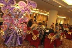 Auftritt-Solo- Batik-Karneval Stockfoto