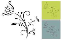 Aufwändige Blumen-Auslegung Lizenzfreies Stockfoto