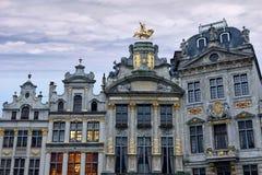Aufwändige Gebäude des großartigen Platzes, Brüssel stockbild