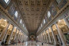 Aufwändige Halle, Rom, Italien Stockbilder