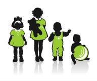 Aufwändige Kindschattenbilder Lizenzfreies Stockfoto